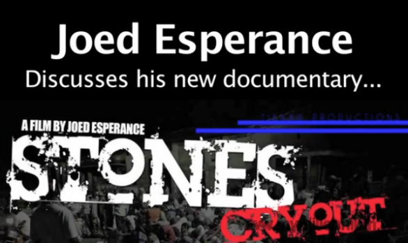 "Joed Esperance discusses his documentary ""Stones Cry Out"""