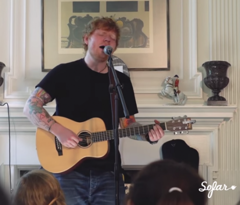 "Millennium Listens: Ed Sheeran ""Perfect"" Live at Sofar Washington DC, for Amnesty 'Give a Home'"